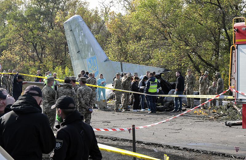 На месте крушения Ан-26 ВВС Украины