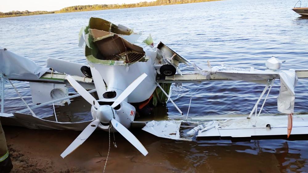 На месте падения самолета в Нижегородской области