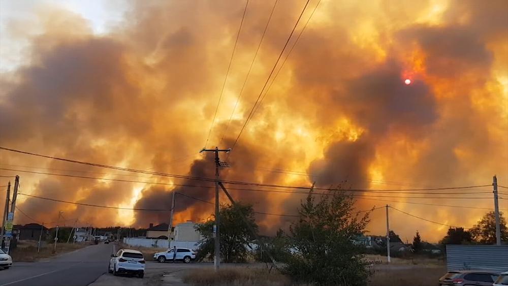 Пожар в Воронеже