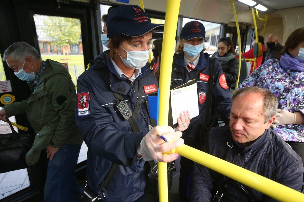 Рейд по проверке соблюдения масочно-перчаточного режима в транспорте