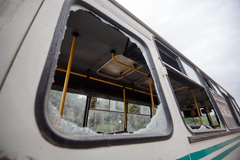 Последствия обстрела в зоне Нагорного Карабаха
