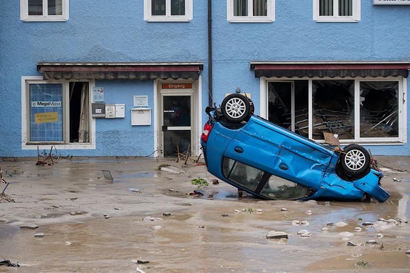 Последствия урагана во Франции