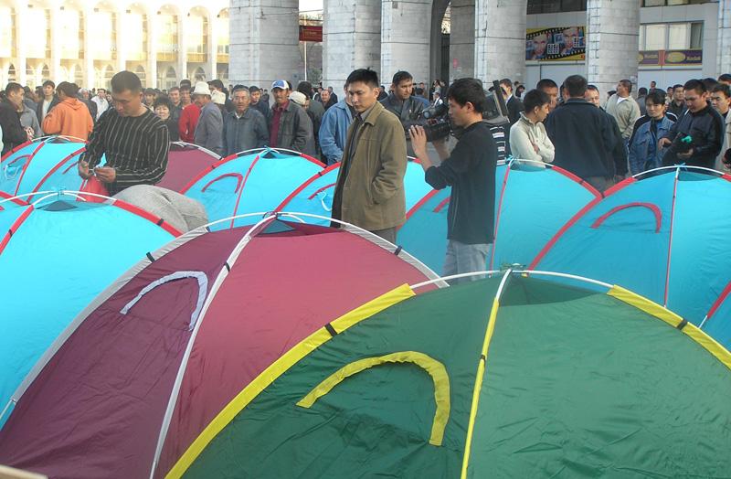 Протесты в Бишкеке