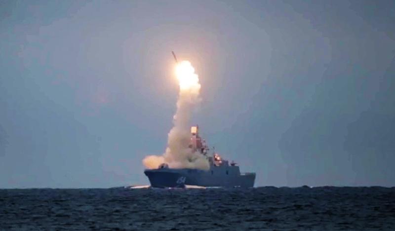 """Первый запуск гиперзвуковой ракеты """"Циркон"""" с фрегата """"Адмирал Горшков"""""""