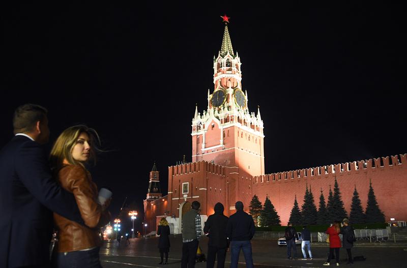 Куранты на Спасской башне Московского Кремля