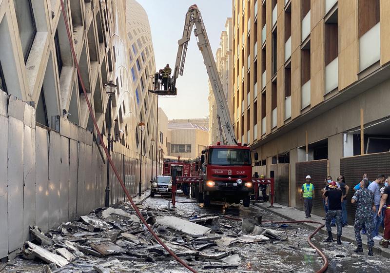 На месте возгорания в центре Бейрута