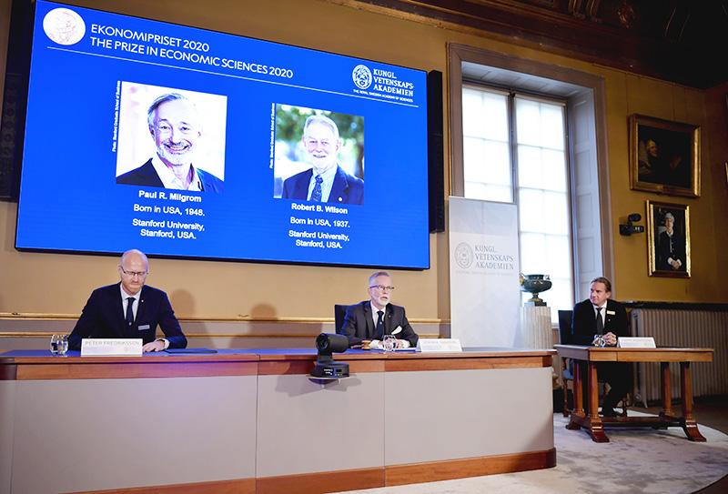 Вручение Нобелевской премии по экономике