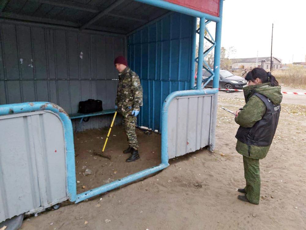 Место стрельбы на остановке в Нижегородской области