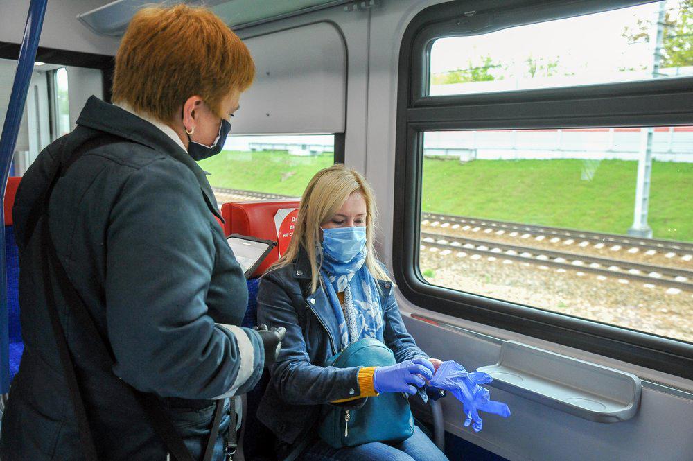 Рейд по проверке ношения масок и перчаток у пассажиров