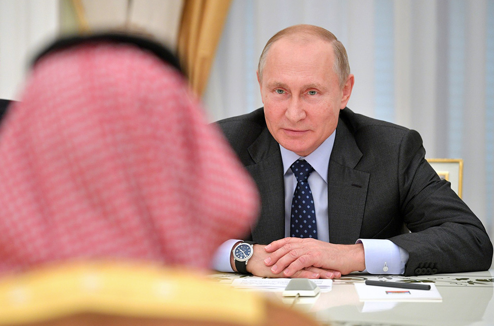 Владимир Путин и Мухаммед Бен Сальман Аль Сауд