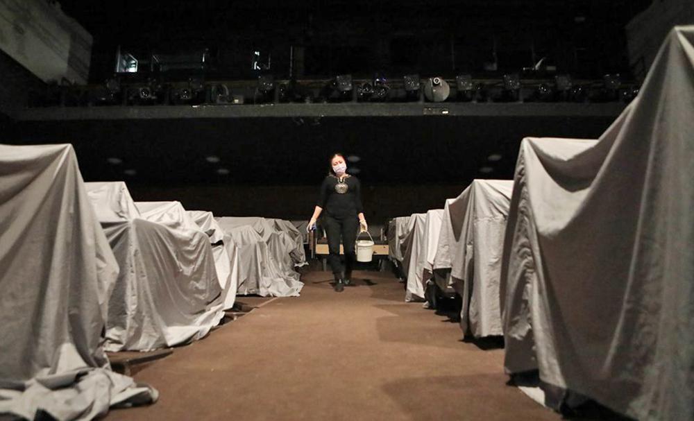 Санитарная обработка помещений театра