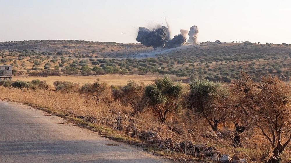 Командный пункт террористов в Сирии
