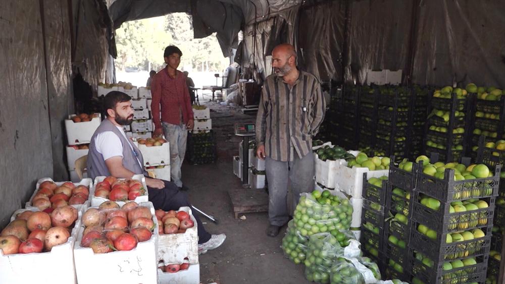 Продовольственный рынок в Сирии