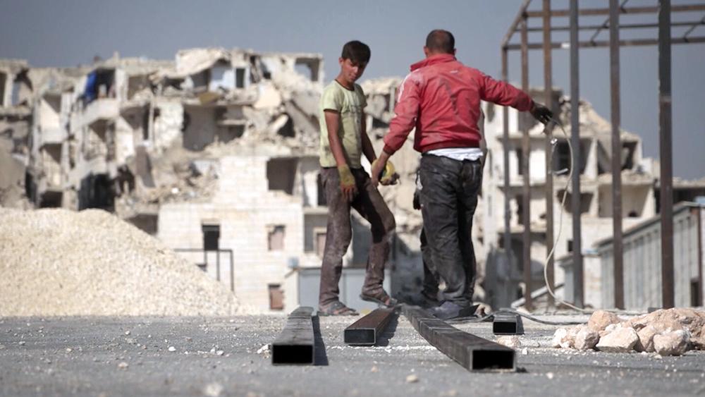 Строительные работы в Сирии