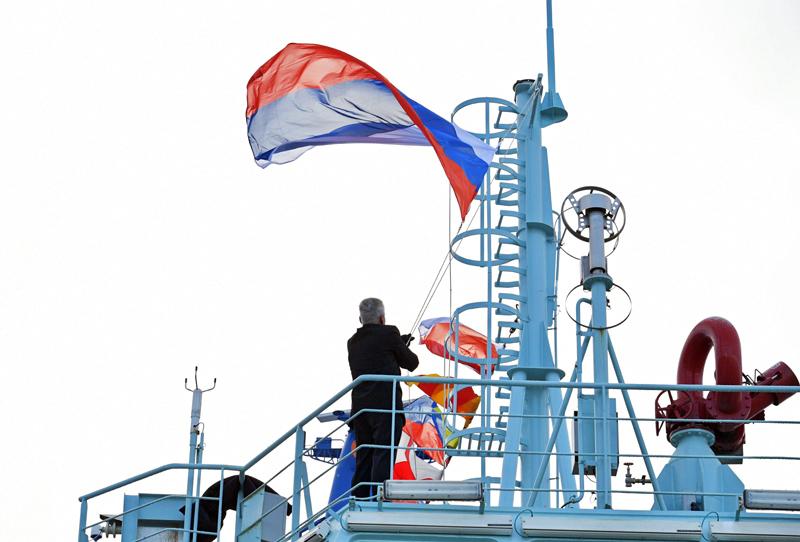 """Церемония приёмки головного универсального атомного ледокола """"Арктика"""""""