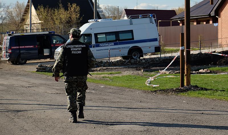 Полиция и СКР на месте происшествия