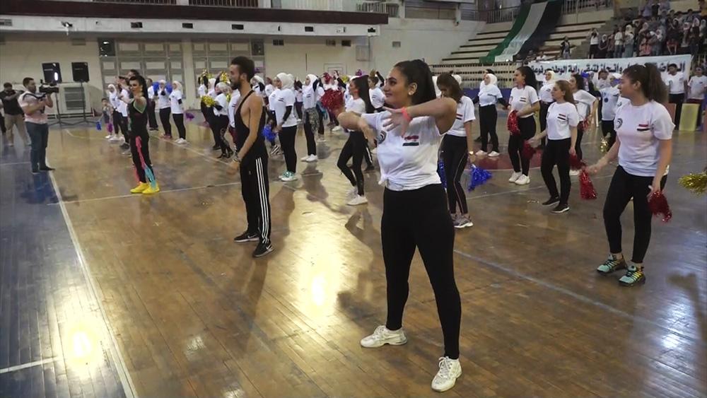 Выпуск студентов в спортивном техникуме в Алеппо