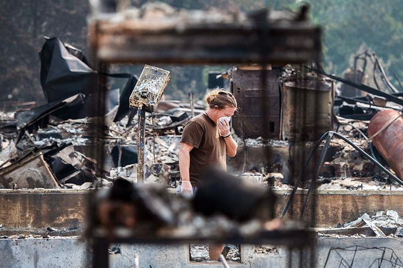 Последствия природных пожаров в США