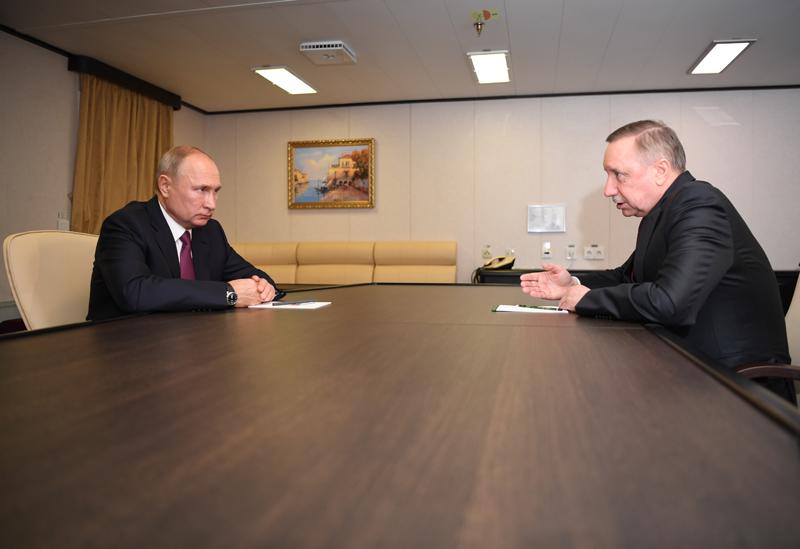 Владимир Путин и губернатор Санкт-Петербурга Александр Беглов