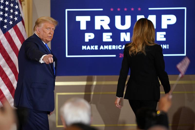 Президент США Дональд Трамп выступил с заявлением в Белом доме