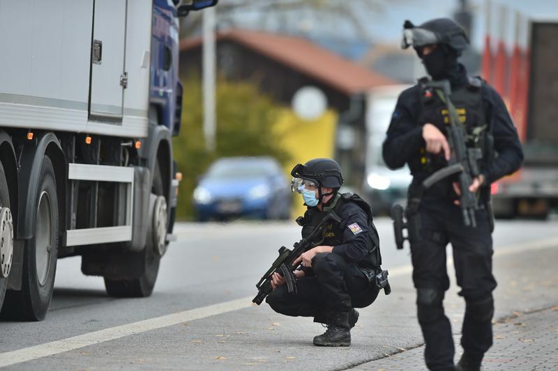 Полицейская операция по поиску злоумышленников, устроивших стрельбу в центре Вены