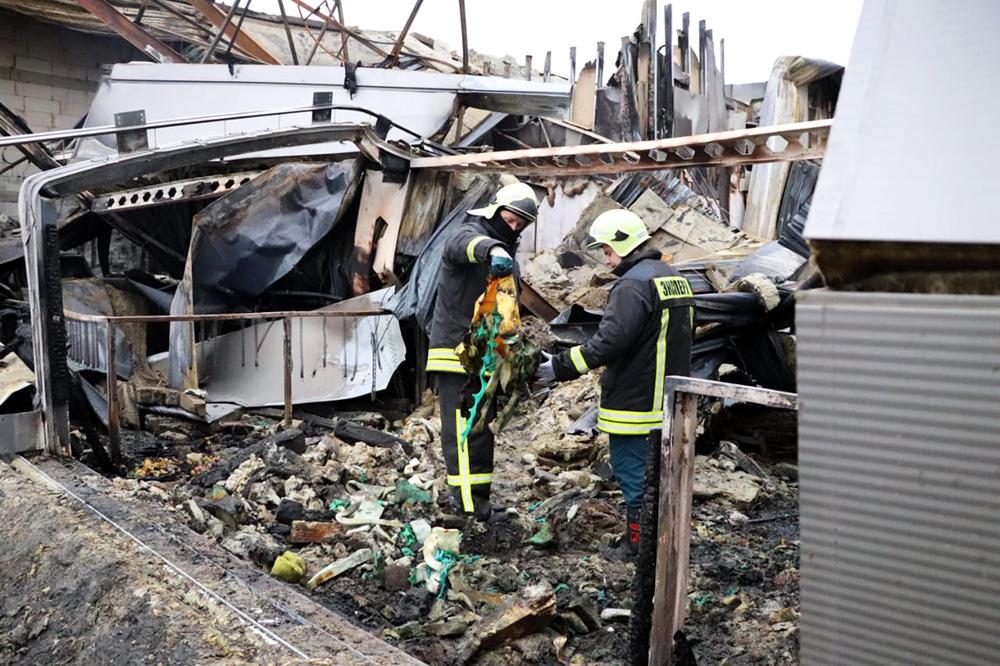Последствия пожара в Рязани