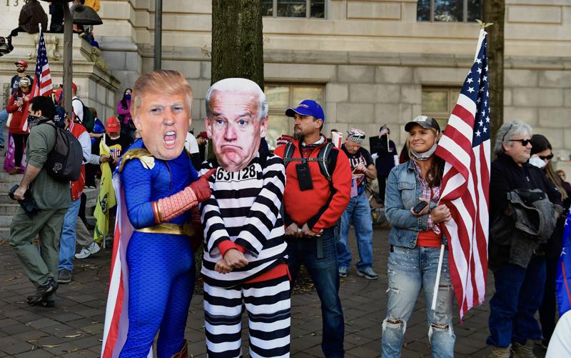 Акция сторонников президента США Дональда Трампа