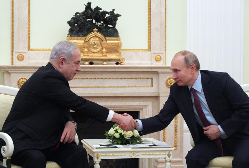 Владимир Путин и премьер-министр Израиля Биньямин Нетаньяху