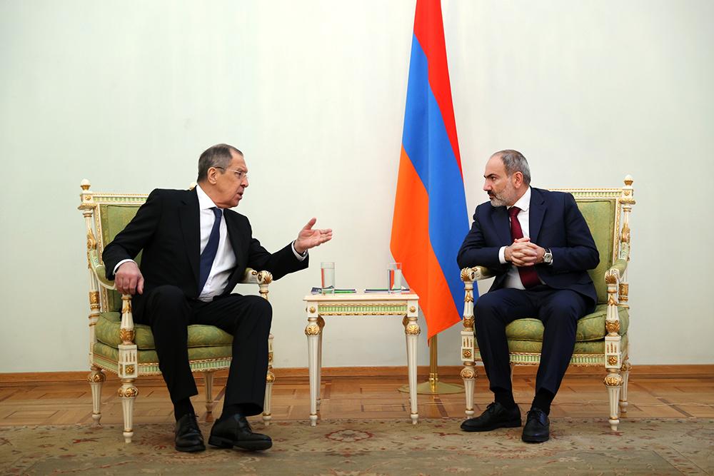 Сергей Лавров и Никол Пашинян