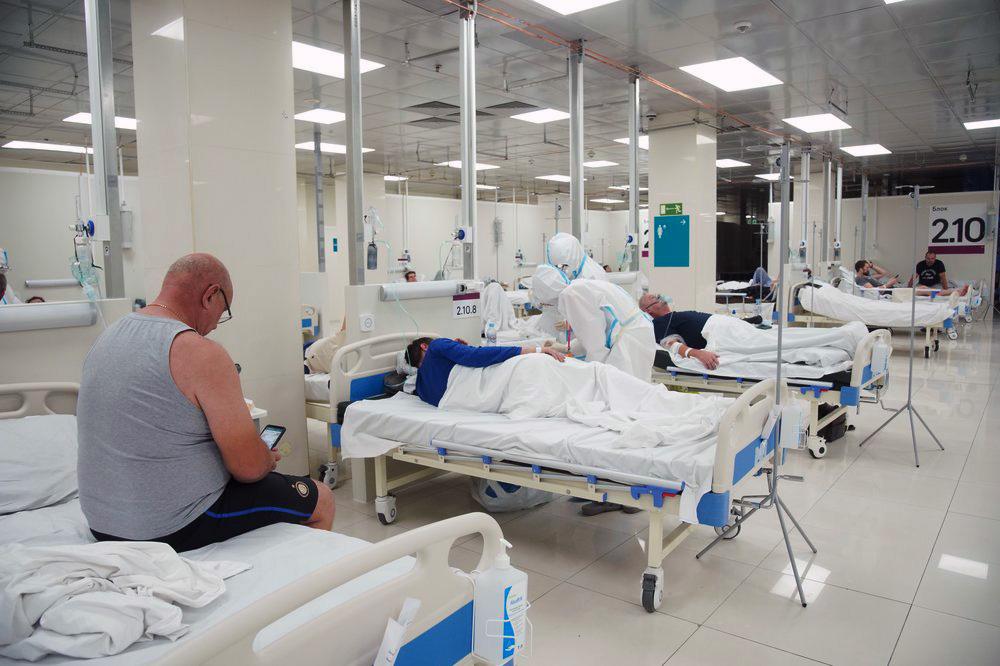 Временный госпиталь для больных COVID-19