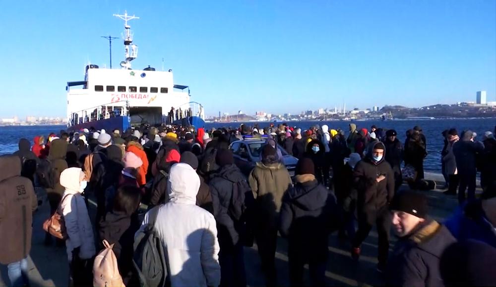 Паромная переправа во Владивостоке