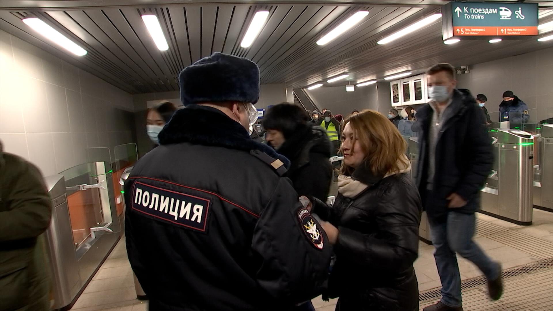 Рейд транспортной полиции по соблюдению масочного режима