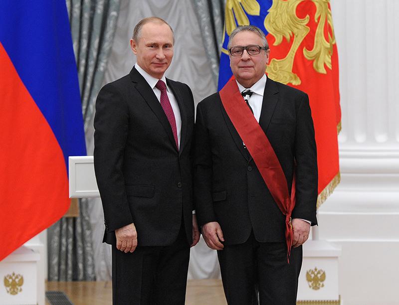 Владимир Путин и Геннадий Хазанов