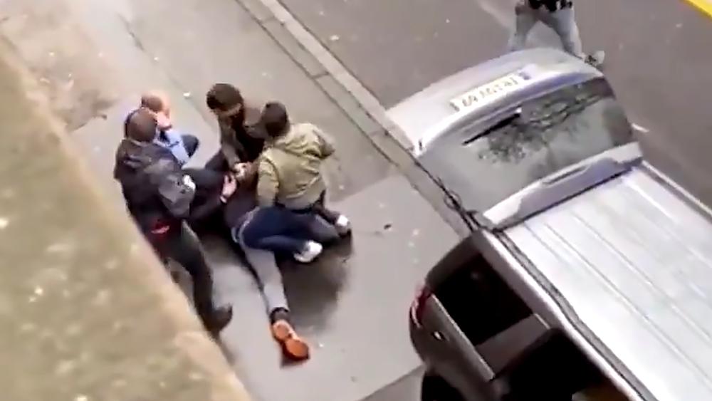 Задержание водителя сбившего пешеходов в городе Трире в Германии