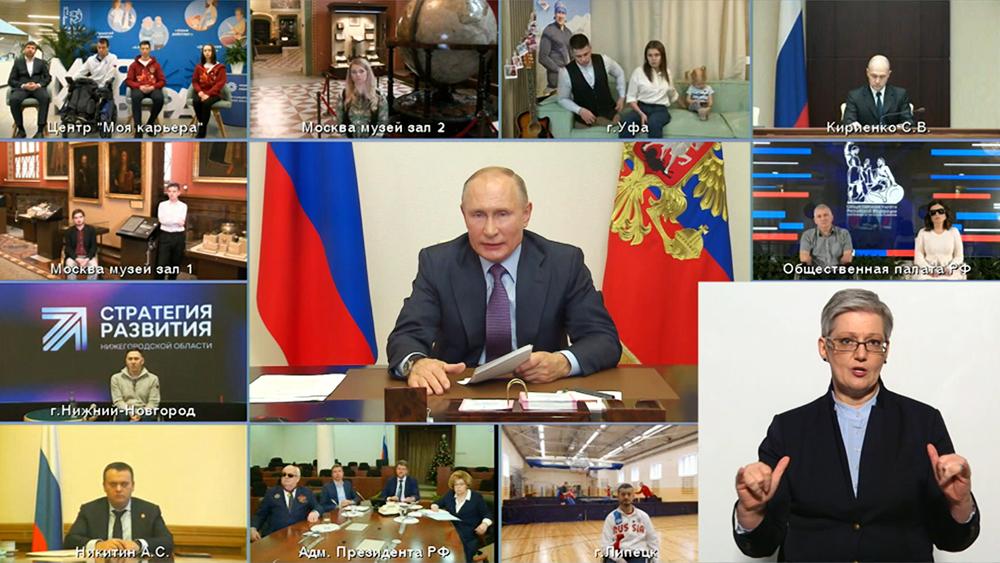 Владими Путин проводит заседание с представителями общественных организаций инвалидов