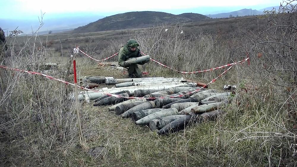 Российские саперы в Нагорном Карабахе