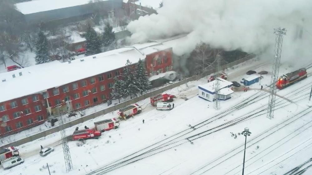 Пожар на заводе в Самаре