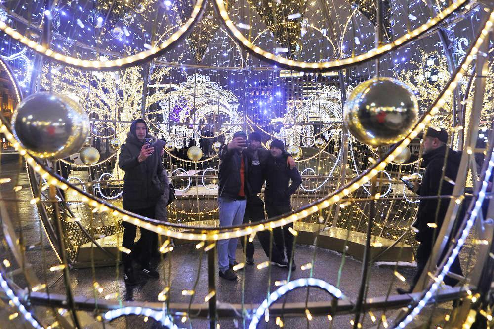 Новогодняя ночь в центре Москвы