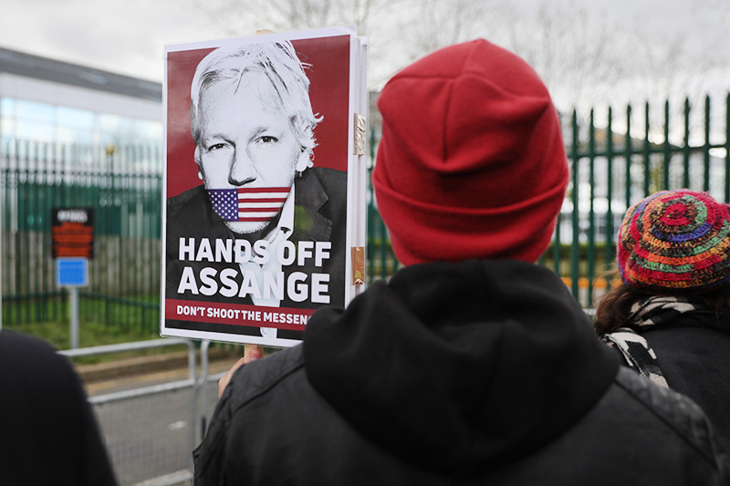 Митинг в поддержку Джулиана Ассанжа