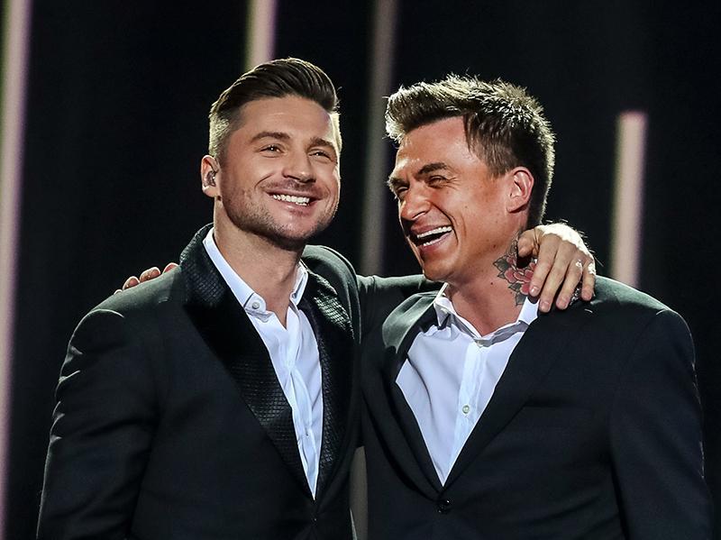 Сергей Лазарев и Влад Топалов