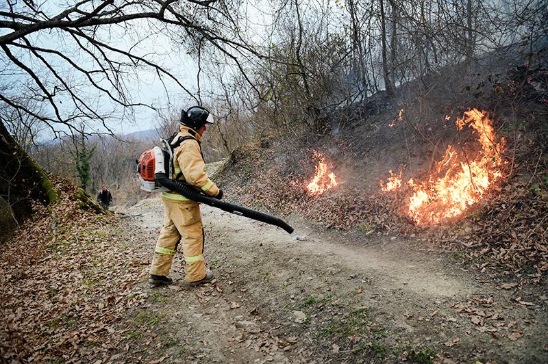 Тушение природных пожаров в Краснодарском крае