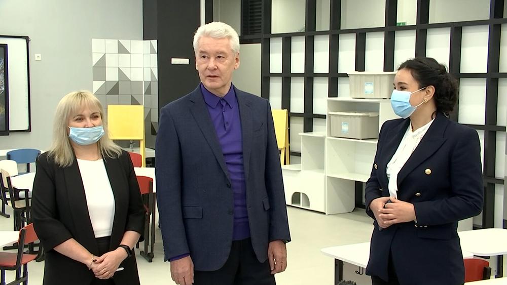 Сергей Собянин осмотрел новую школу