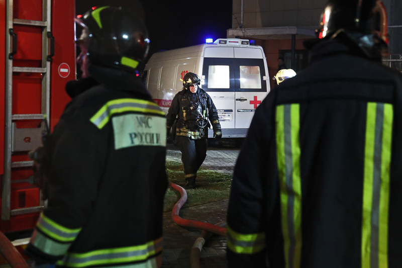 Экстренные службы на месте возгорания