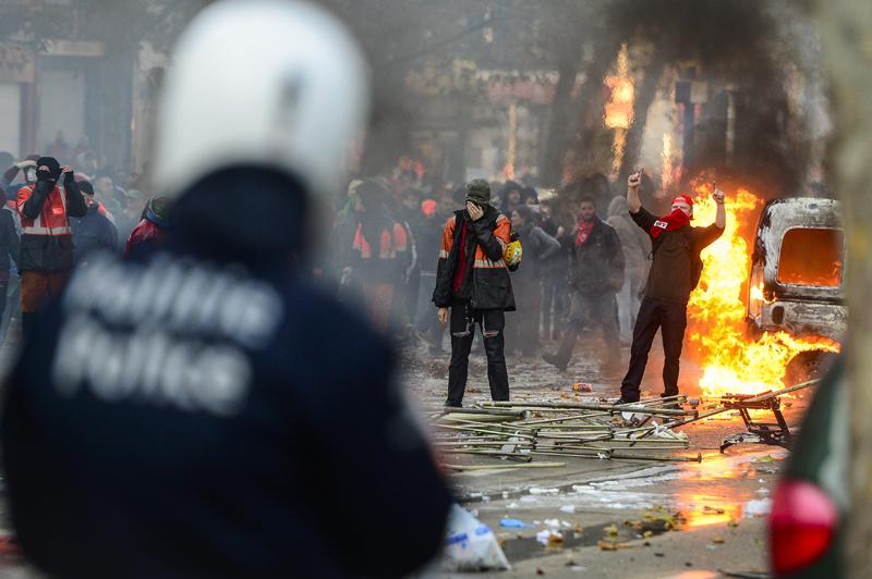 Беспорядки в Брюсселе