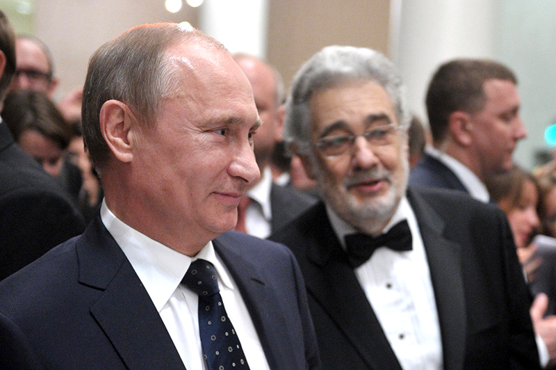 Владимир Путин и Пласидо Доминго