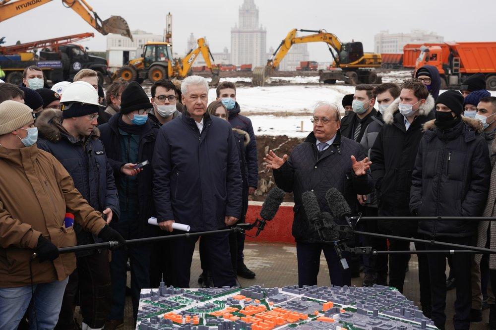 Церемония начала строительства инновационного научно-технологического центра МГУ