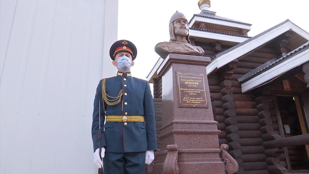 Памятник Александру Невскому в Сирии