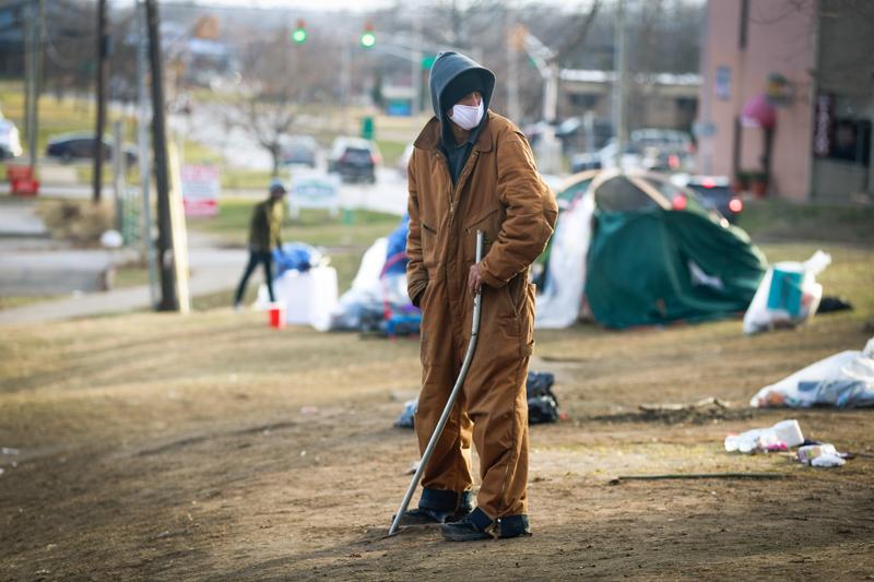 Бездомный человек в США