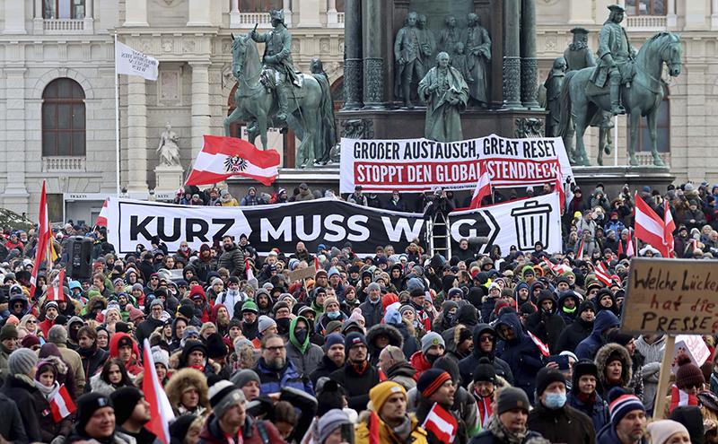 Протесты в Австрии