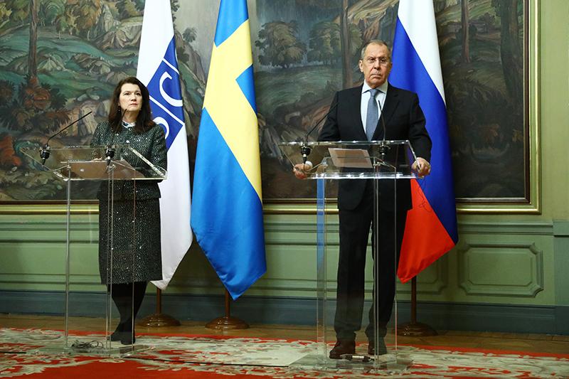 Сергей Лавров и Анн Линде